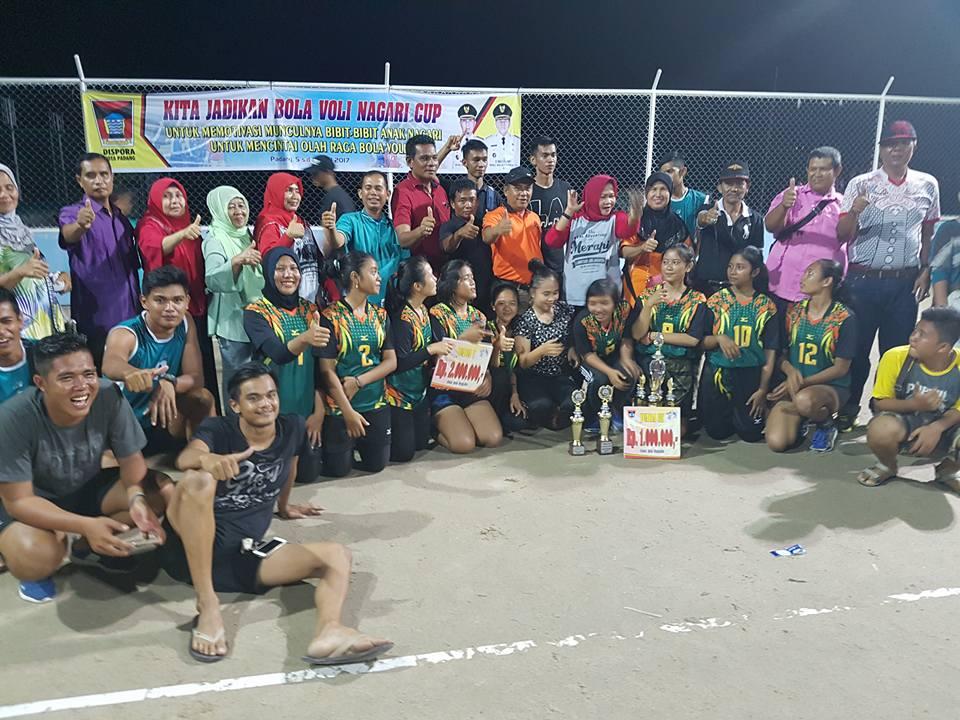 Duta Olahraga FKAN Pauh IX Ikuti Turnamen Bolavoli Nagari Cup