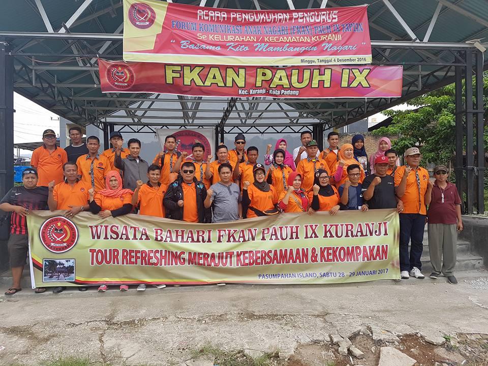 Pengurus FKAN Pauh IX Lakukan Tour Guna Refreshing