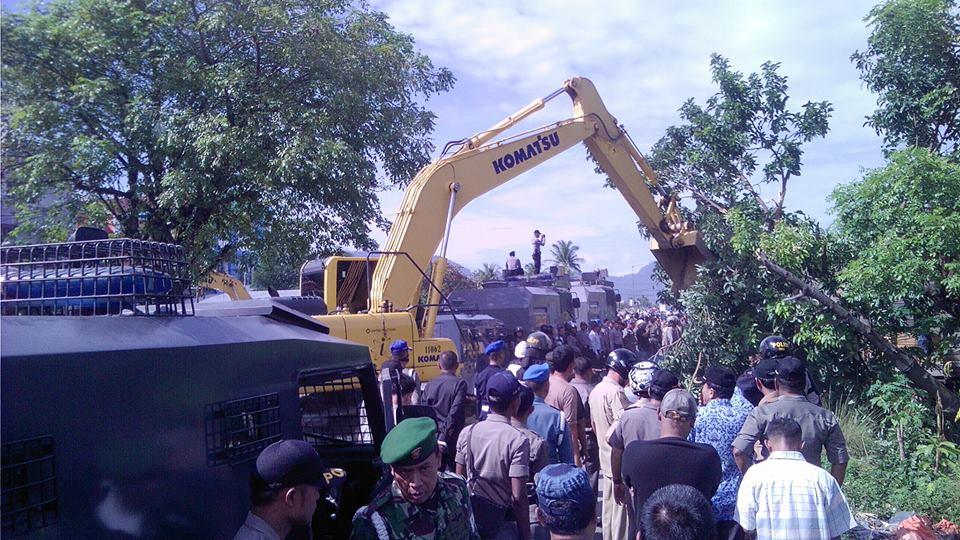 salah satu proses eksekusi pembebasan lahan Bypass Padang