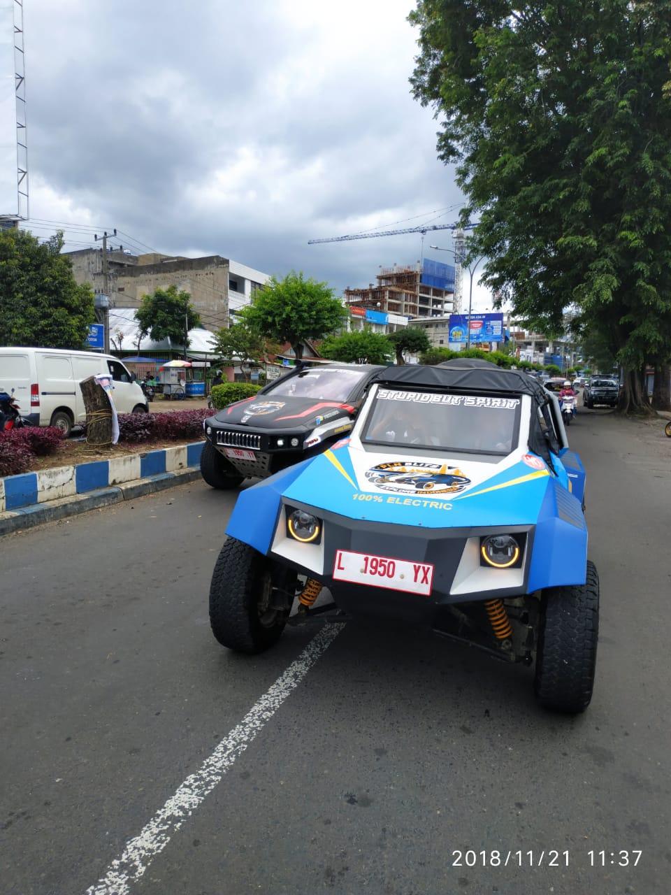 Tiba di Padang, Blits Tempuh 2.810 Km Tanpa Kendala