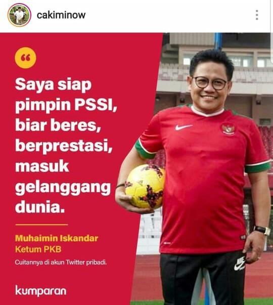 H.Febby Dt Bangso Dorong Muhaimin Iskandar Duduk di Kursi Ketua Umum PSSI