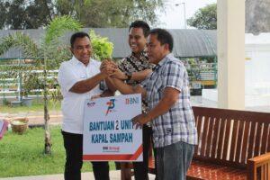 CSR BNI Bantu 2 Unit Kapal Wisata, BWS Sumatera V Dukung Danau Cimpago Jadi Ekowisata
