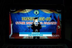 STMIK Indonesia Padang PTS Pertama Lakukan Wisuda Virtual