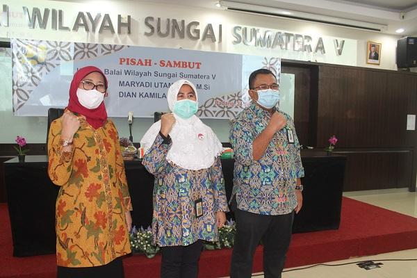 Pisah-Sambut Kepala BWS Sumatera V dari Maryadi Utama pada Dian Kamila, Nakhoda Boleh Berganti Arah Kemudi Tetap Satu Tujuan