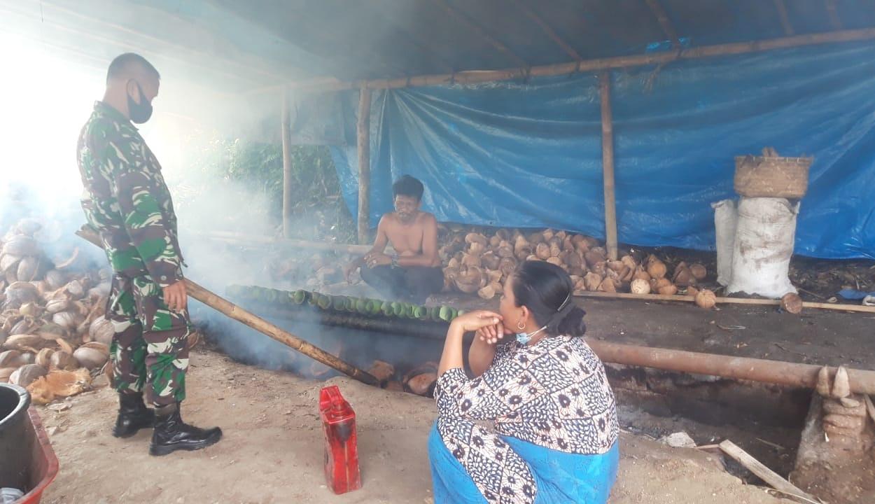 Komsos Terakhir Dengan Pengrajin Makanan Tradisional Lemang di Akhir Penugasan